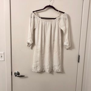 ASTR Long Sleeve White Dress